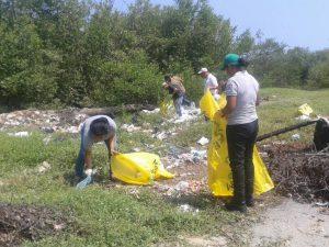 Recolectados 250 kilos de desechos sólidos de la laguna del sector Oropeza Castillo
