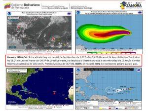 Inameh: Irma no representa ningún peligro para el país