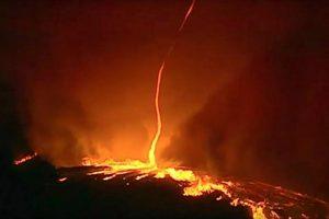Registran un inusual y sorprendente tornado de fuego en Portugal