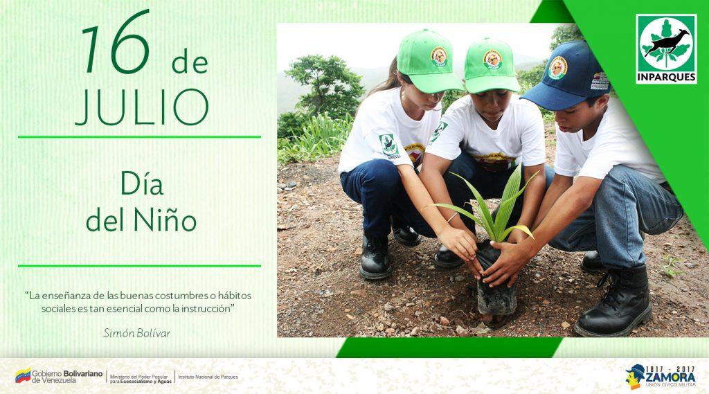 Inparques celebra el Día del Niño en Falcón sembrando valores ambientales