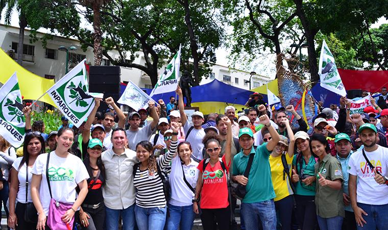 Inparques celebró Día Mundial del Ambiente con marcha a Miraflores