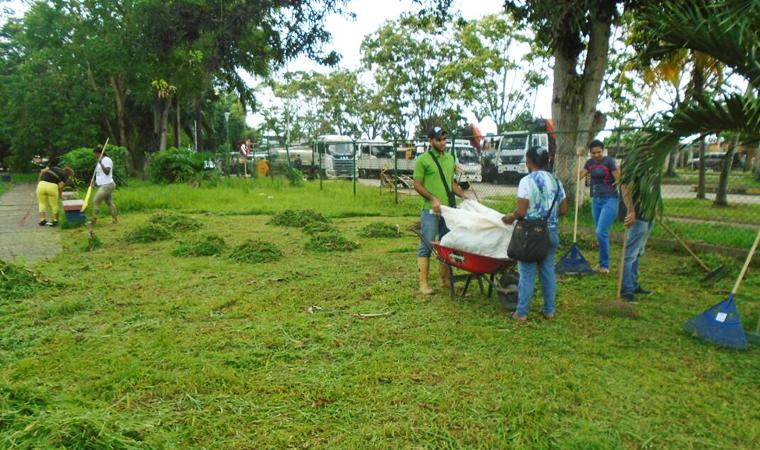Inparques desarrolló saneamiento en el Parque Recreacional Central Tucupita