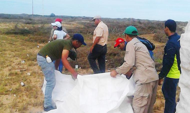 Recolectados 90 kilos de desechos sólidos en el Parque Nacional Médanos de Coro