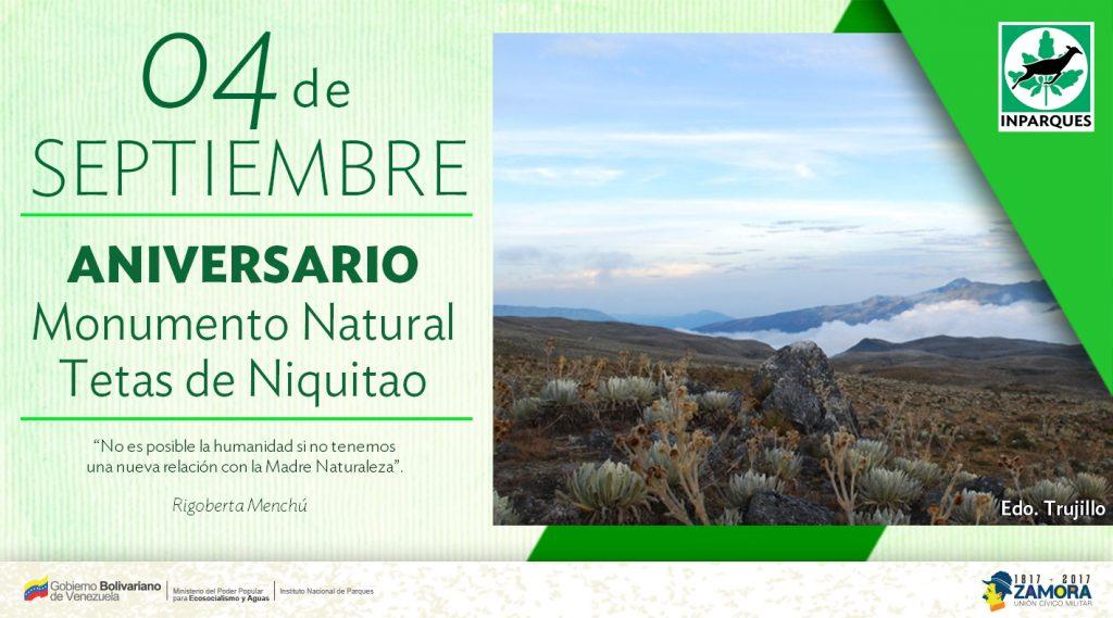Inparques celebra 21 aniversario del Monumento Natural Teta de Niquitao-Guirigay