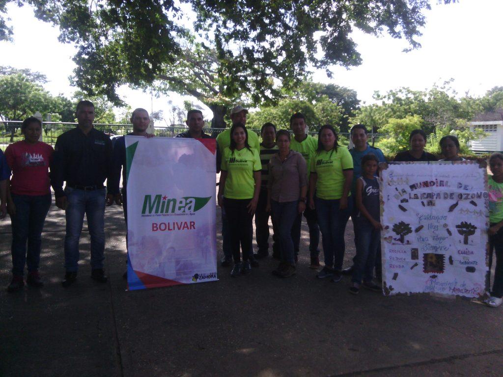 Inparques Bolívar marchó a favor de la capa de ozono