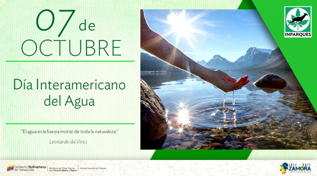 Inparques celebra el Día Interamericano del Agua y fomenta su importancia