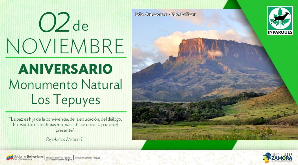 Monumento Natural Los Tepuyes cumple 27 años de su declaratoria