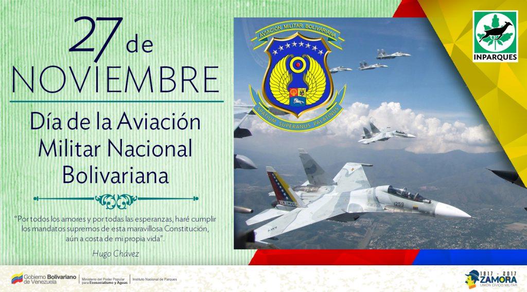 Venezuela rinde homenaje a la Aviación Militar Bolivariana este lunes