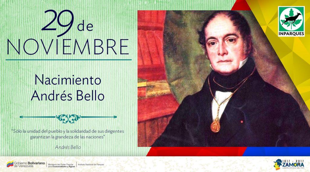 Venezuela celebra natalicio de Andrés Bello precursor de la ecología