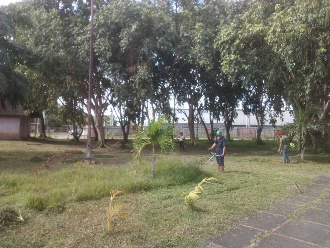 Inparques inicia saneamiento ambiental en Parque Central Tucupita