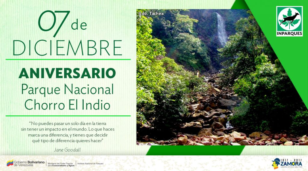Inparques celebra aniversario de cuatro áreas protegidas