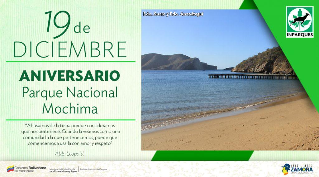 Celebran 44 aniversario del Parque Nacional Mochima con programación ecosocialista