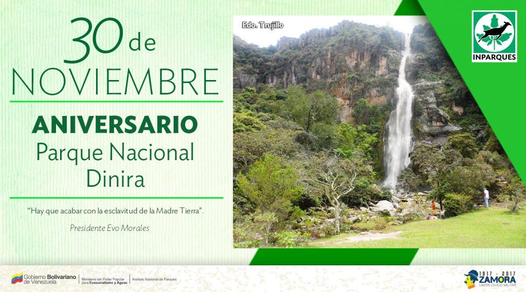 Destacan potencial de Parque Nacional Dinira en su 29 aniversario