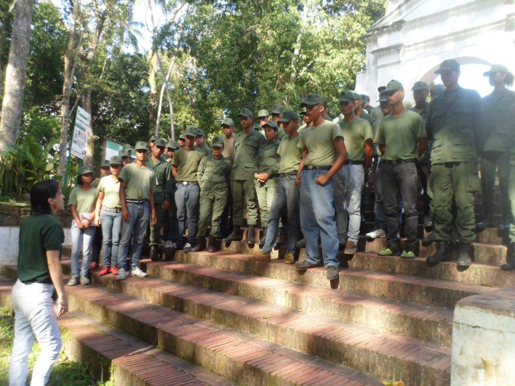 Estudiantes de Unidad de Infantería disfrutaron de visita guiada en Parque San Felipe El Fuerte