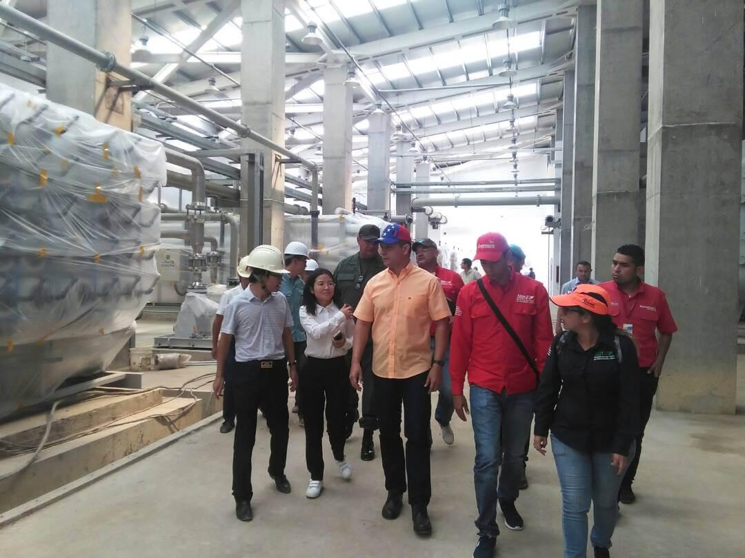 Más del 95% de avance presenta planta desalinizadora en Boca de Pozo