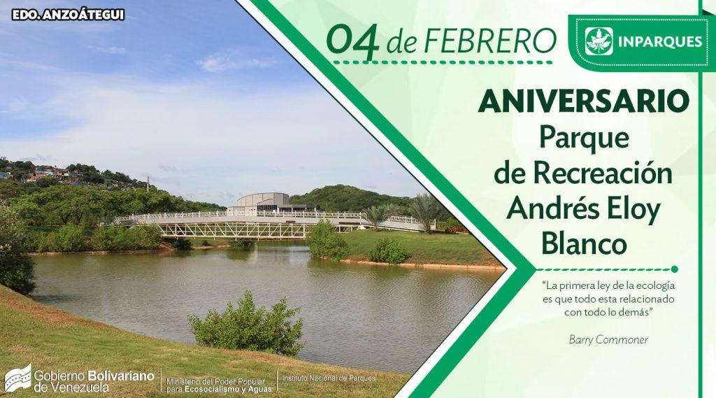 El Parque Andrés Eloy Blanco de Puerto La Cruz cumple 31 años