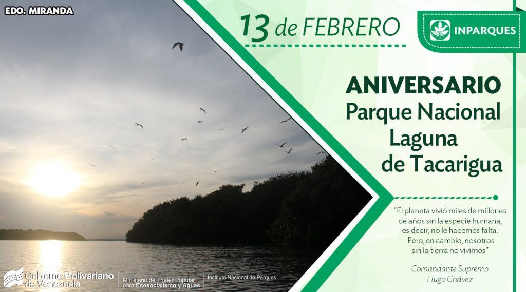 Parque Nacional Laguna de Tacarigua celebra su cumpleaños