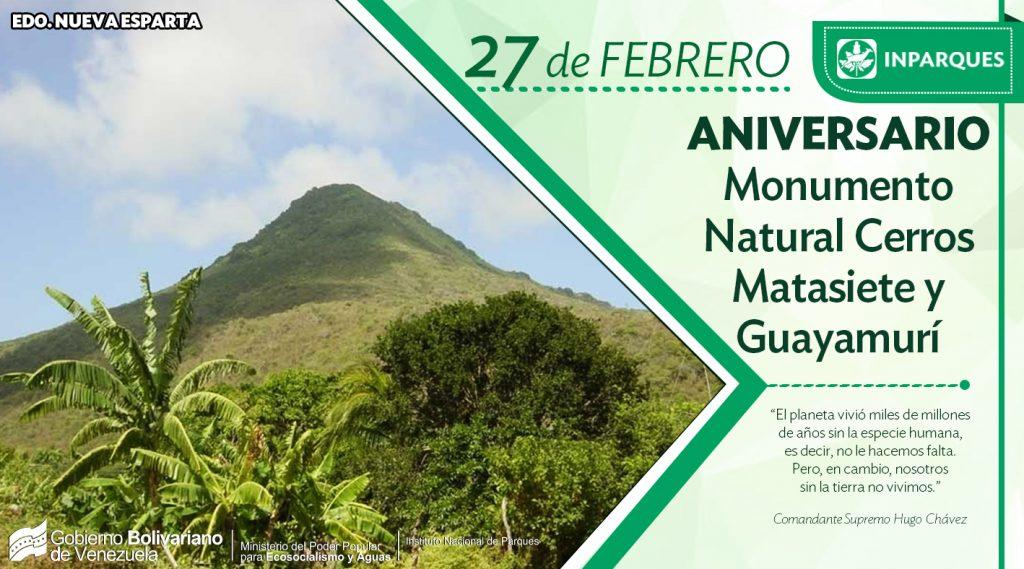 Cerros Matasiete y Guayamurí cumplen 44 años como Monumento Natural