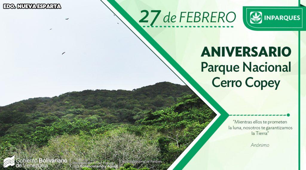 Parque Nacional Cerro El Copey celebra cumpleaños número 44