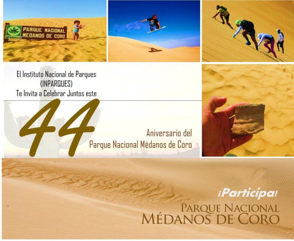 Aniversario 44 del Parque Nacional Médanos de Coro inicia con caminata 5K