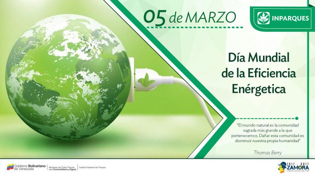 Inparques  celebra el Día Mundial de la Eficiencia Energética