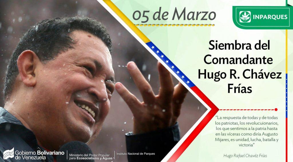 Inparques conmemora cinco años de inmortalidad de Hugo Chávez