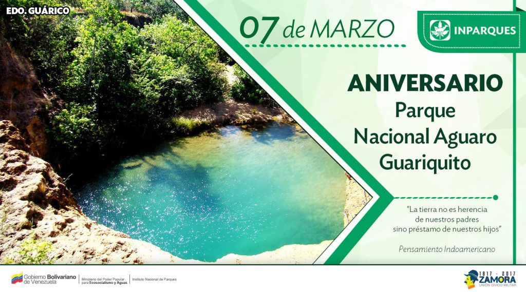 Inparques celebra 44 años del Parque Nacional Aguaro-Guariquito