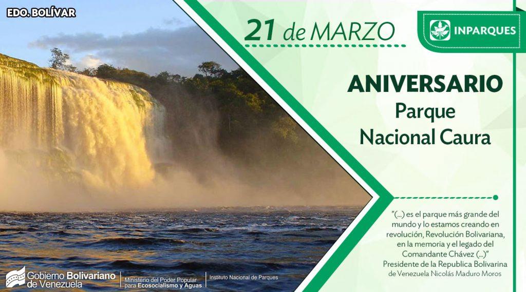 Parque Nacional Indígena Caura cumple primer año declarado en Revolución