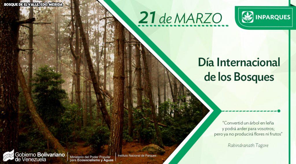 Inparques se suma a la celebración del Día Internacional de los Bosques