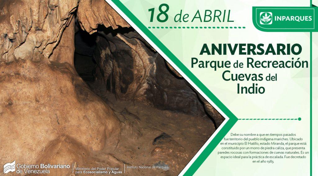 Parque de Recreación Cuevas del Indio arriba a 35 años