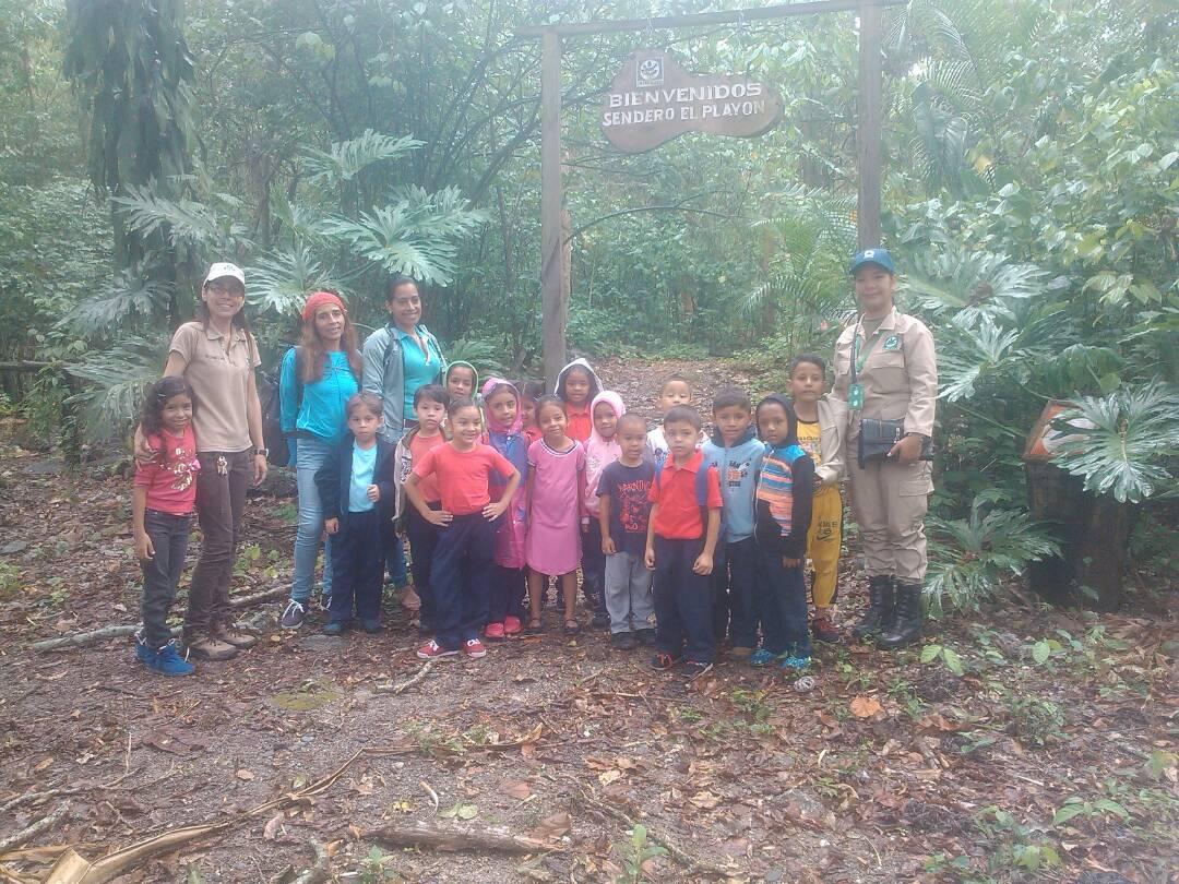 Niños de educación inicial disfrutaron de visita guiada al Parque Yurubí