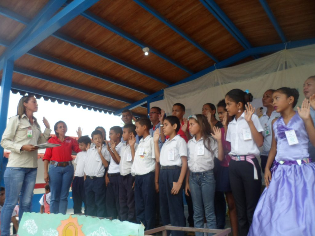 Colectivo de Gestión Ambiental juramenta brigada escolar en Yaracuy