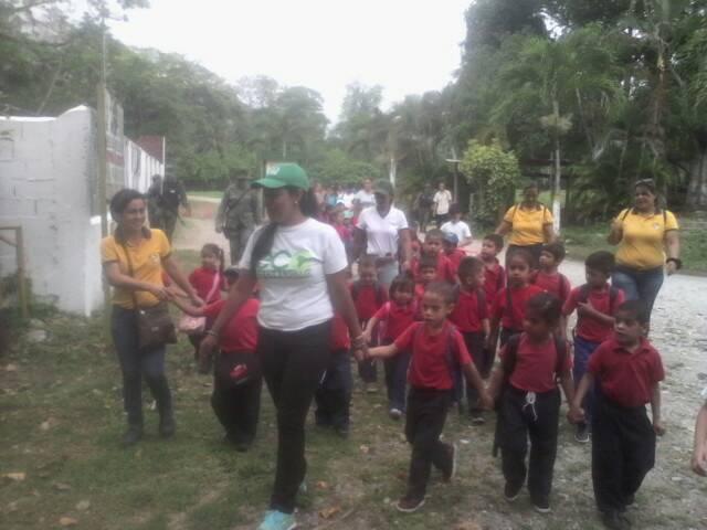 Escolares disfrutaron de visita guiada en el Monumento Natural Cerro María Lionza