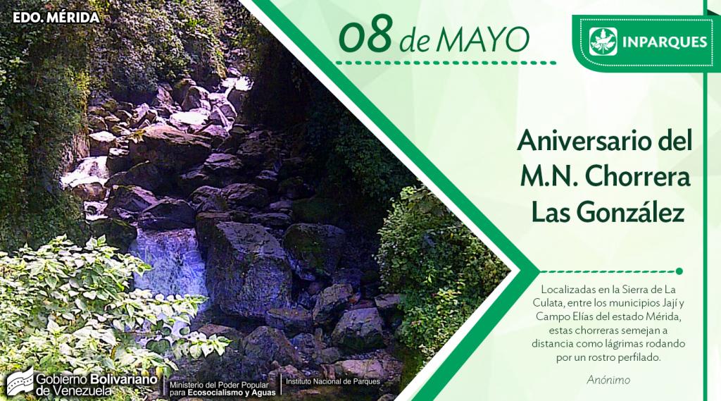 Hoy se conmemoran 38 años del Monumento Natural Chorrera Las González