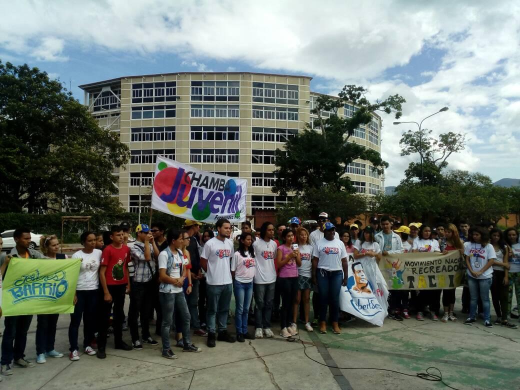 Juventud del Táchira realizó toma deportiva en el Parque Metropolitano