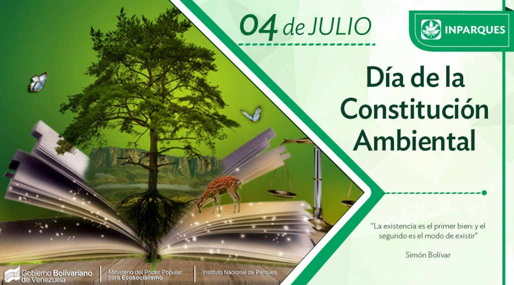 Por la conservación del planeta: 4 de julio Día de la Constitución Ambiental