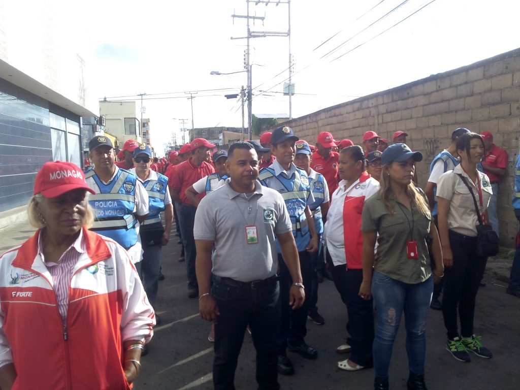 Personal de Inparques participó en desfile cívico militar en Monagas