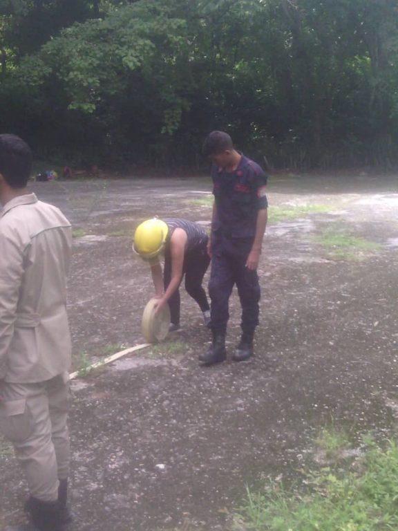 Minec Yaracuy acompañó a universitarios en formación para el combate de incendios y primeros auxilios