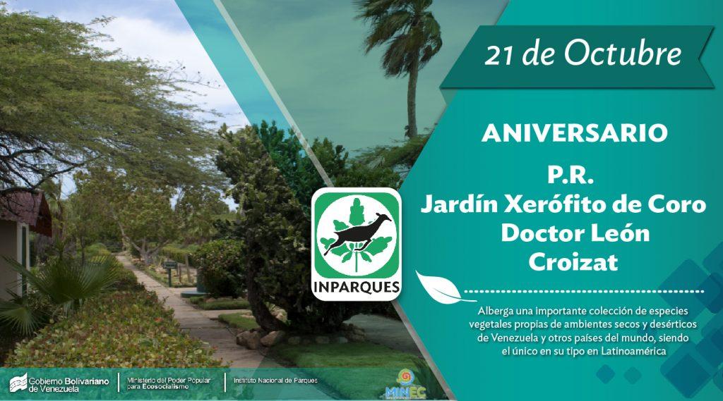 Parque Recreacional Jardín Xerofítico de Coro Dr. León Croizat 46 años al servicio de los venezolanos