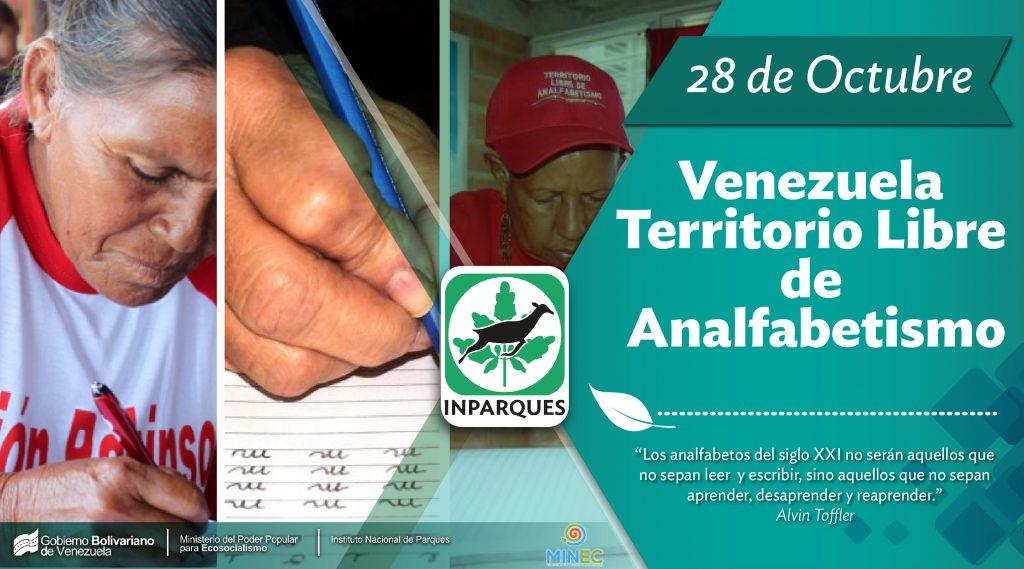 Venezuela es un Territorio Libre de Analfabetismo desde hace 13 años