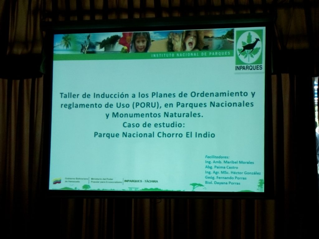 Dictan taller sobre Plan de Ordenamiento de Parques Nacionales en Táchira