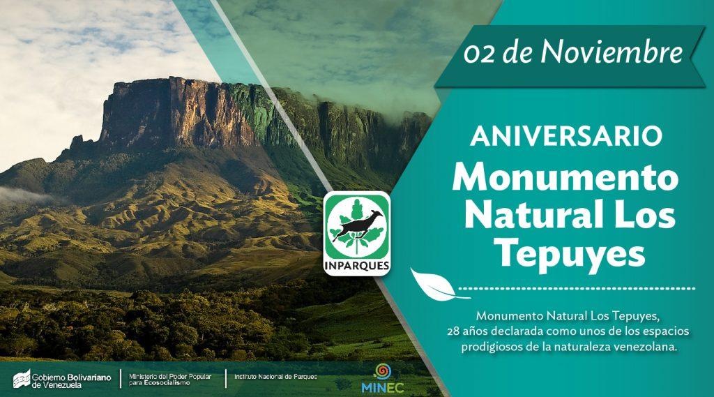 Monumento Natural Los Tepuyes cumple 28 años bajo la protección de Inparques