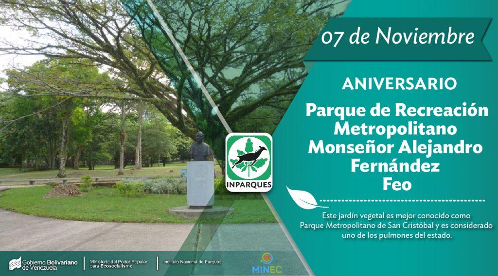 El Parque Metropolitano cumple 27 años como espacio de encuentro de la ciudad de San Cristóbal