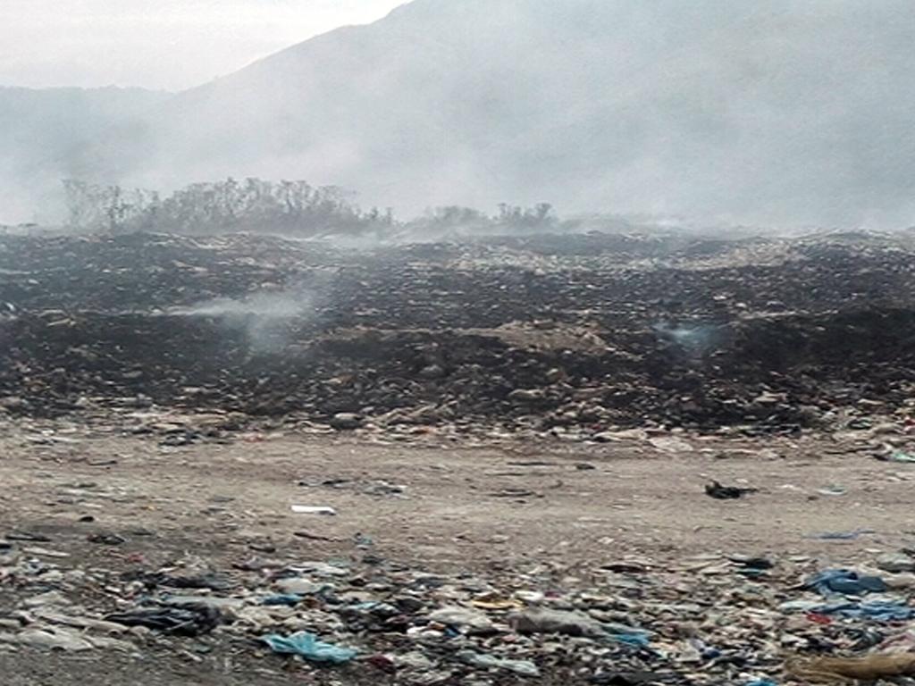 Minec Táchira evalúa incendio en vertedero San Josecito