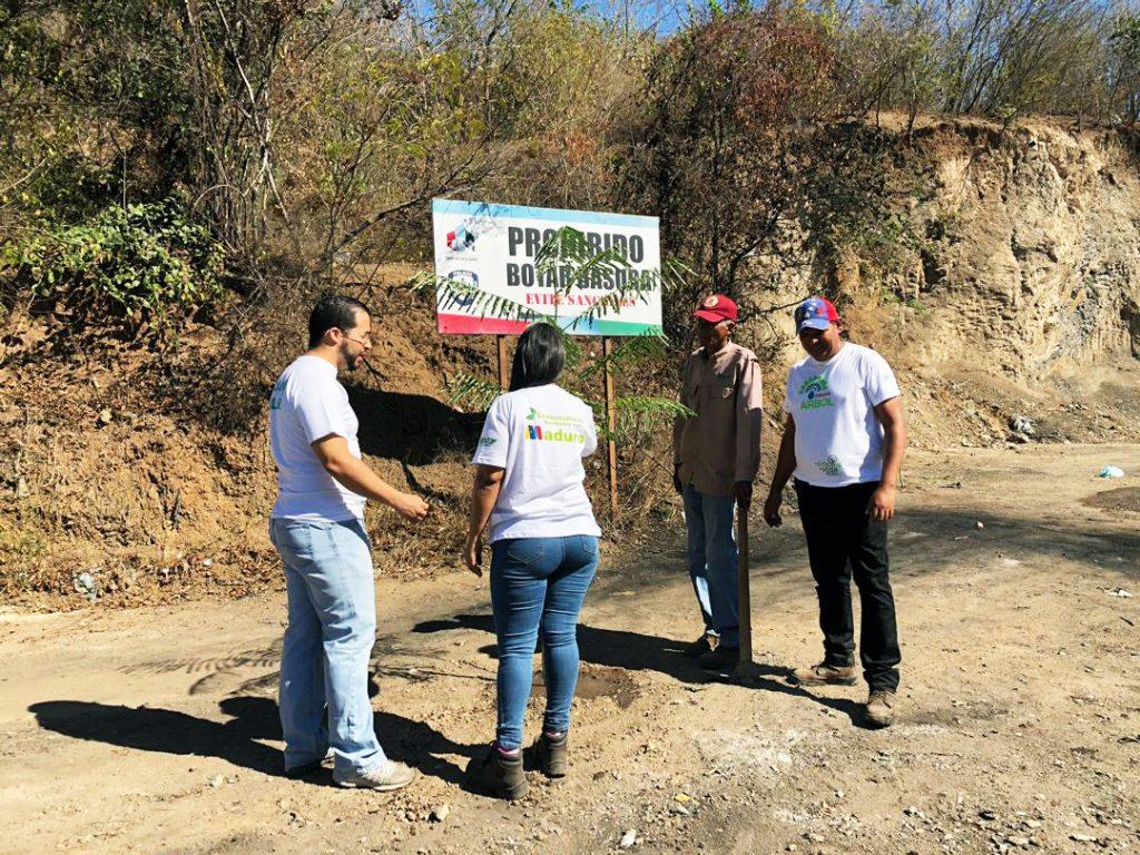 Minec reforestó espacio saneado por la Alcaldía de Bolívar