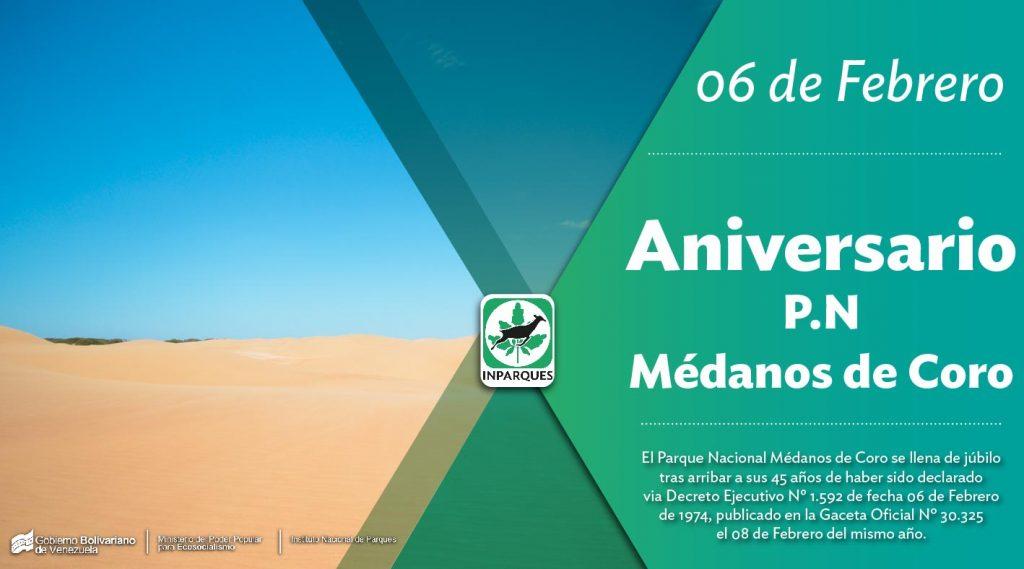 Los Médanos de Coro cumplen 45 años como Parque Nacional