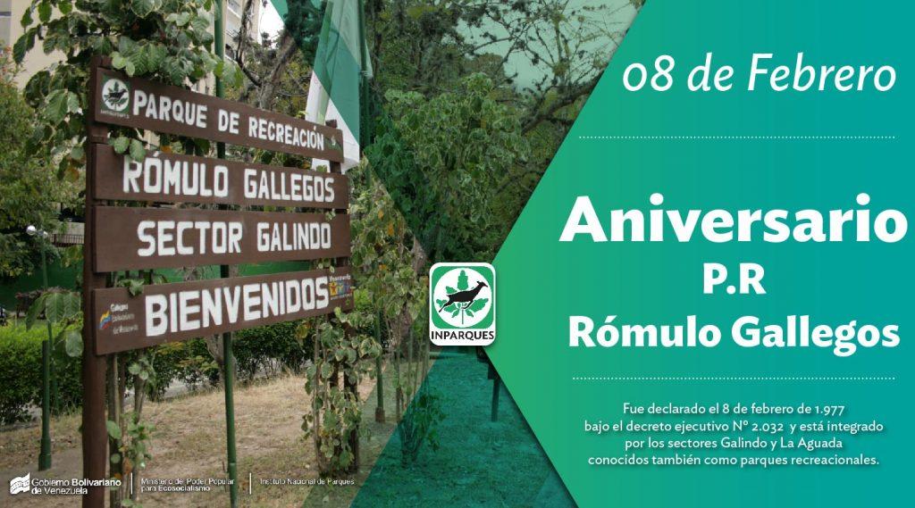 Parque de Recreación Rómulo Gallegos 42 años al servicio del pueblo