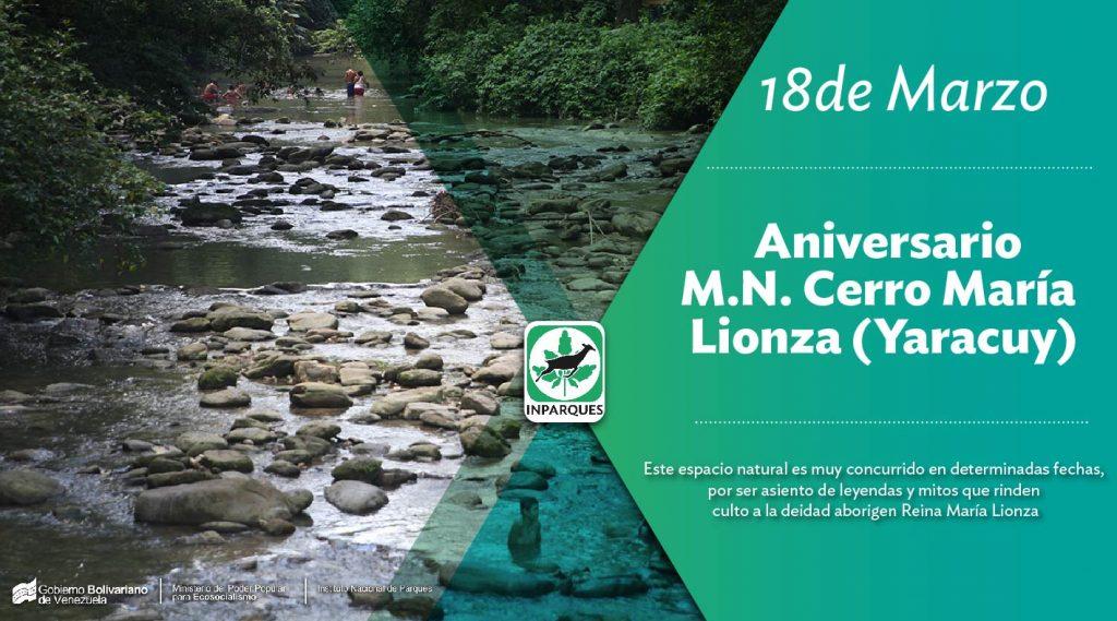 Monumento Natural Cerro María Lionza conmemora sus 59 años