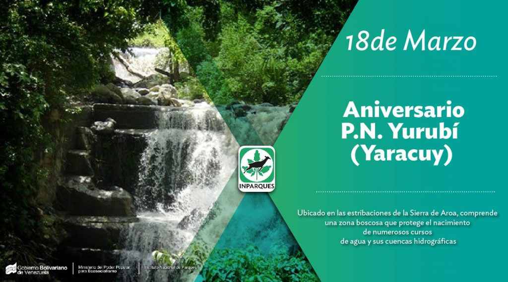 Parque Nacional Yurubí celebra su 59 aniversario