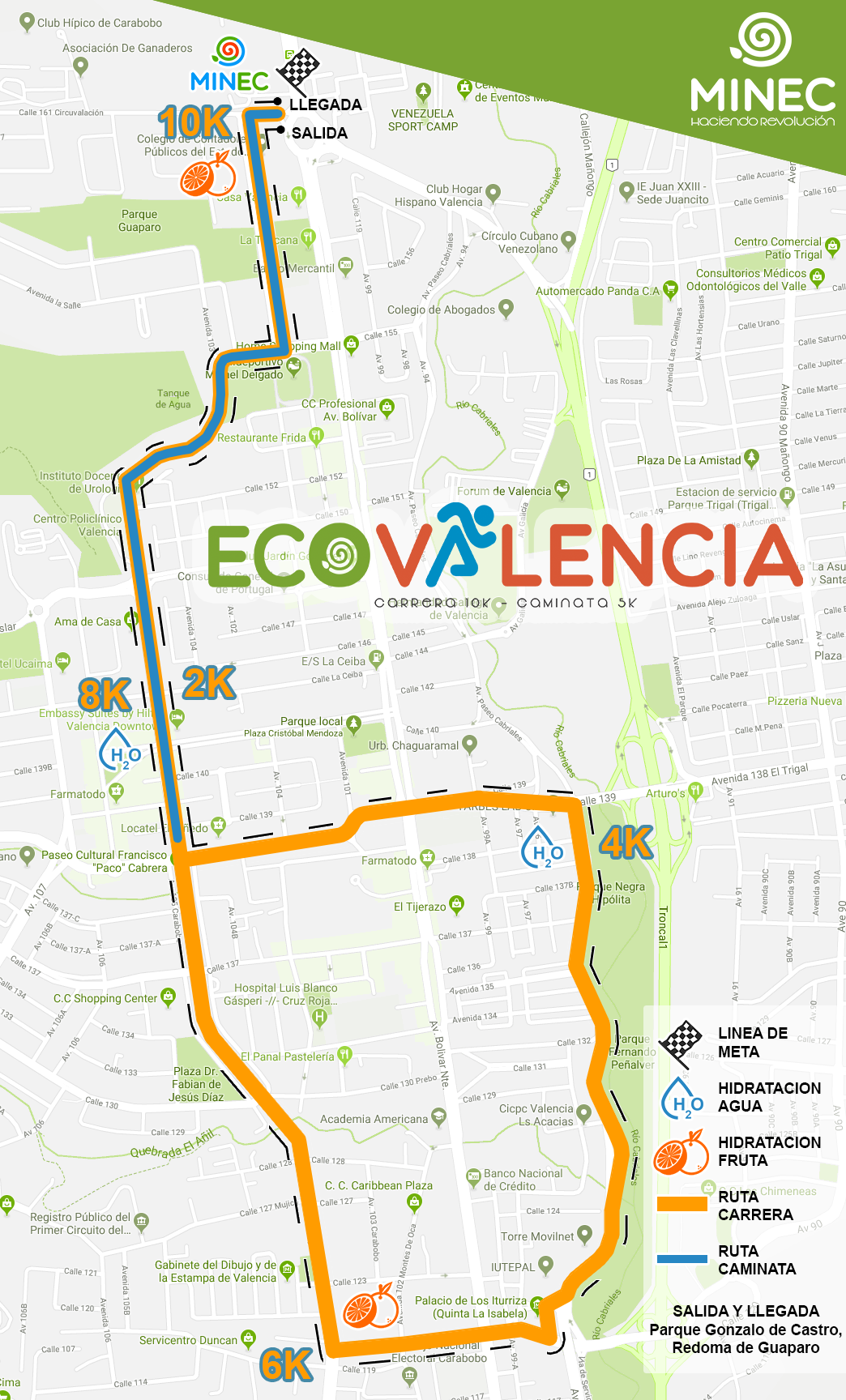 Carrera y caminata Eco-Valencia se realizará el próximo 26 de mayo